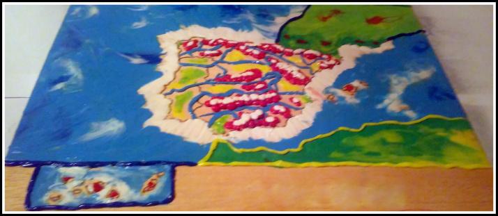 Mapa físico de españa en plastilina para tercero de primaria
