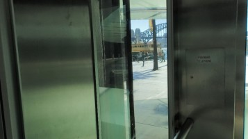 Sydney harbour Bridge from the Carhill Express Elevator