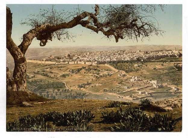 From Mount Scopus, Jerusalem, Holy Land