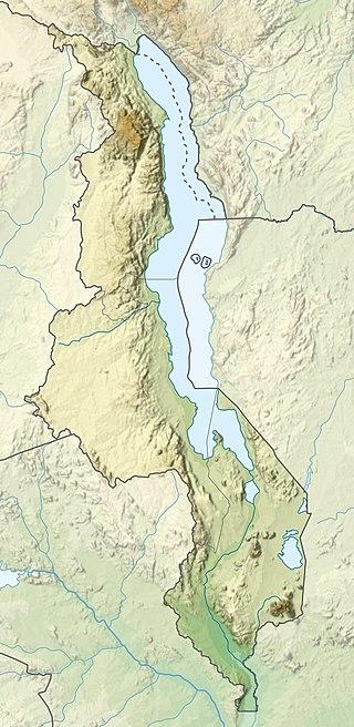 Nor Nor west of Zambezi River Basin - map of Lake Malawi