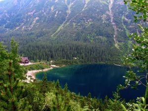 Panoramic view of Morskie Oko -amerlan - Own work Morskie Oko Pond in Tatra Mountains, Poland  Permission details WikipediaView more Public Domain