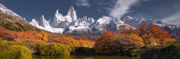 Mount Fitz Roy seen from El Chaltén, Argentina
